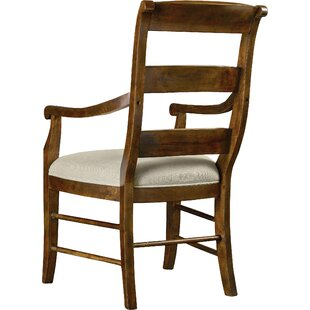 Archivist Ladderback Upholstered Dining Arm Chair (Set of 2) by Hooker Furniture