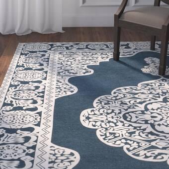 World Menagerie Kiara Cotton Gray Area Rug Wayfair