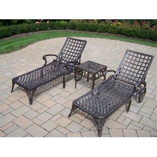 Astoria Grand Thelma Three Piece Chaise Lounge Set