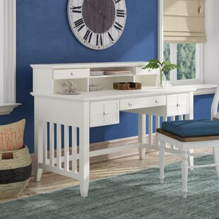 Lexie Solid Wood Secretary Desk With Hutch by Beachcrest Home Great price