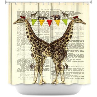 Giraffes Single Shower Curtain