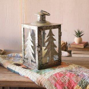 Galvanized Tree Metal Lantern by Kalalou