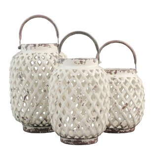 3 Piece Ceramic Lantern Se..
