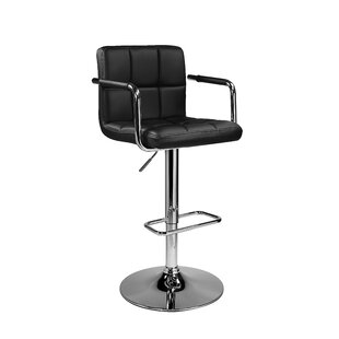 Bulwell Adjustable Height Swivel Bar Stool (Set of 2) Orren Ellis