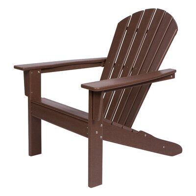 Incredible Bay Isle Home Barrett Plasticresin Adirondack Chair Color Mocha Gamerscity Chair Design For Home Gamerscityorg