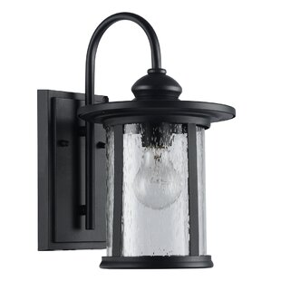 Price Check Wickford 1-Light Outdoor Wall Lantern By Breakwater Bay