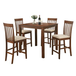 Kubiak 5 Piece Counter Height Dining Set