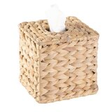 Carmel Water Hyacinth Wicker Square Tissue Box Cover