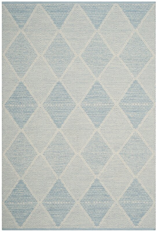 Great Oxbow Hand Woven Light Blue Area Rug