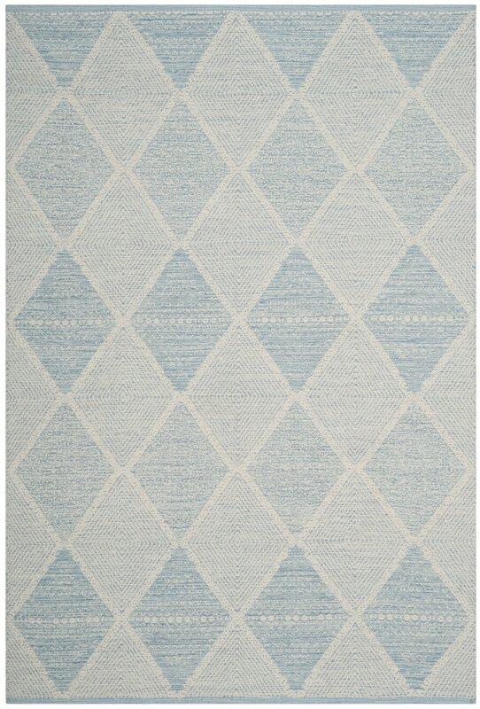laurel foundry modern farmhouse oxbow hand-woven light blue area