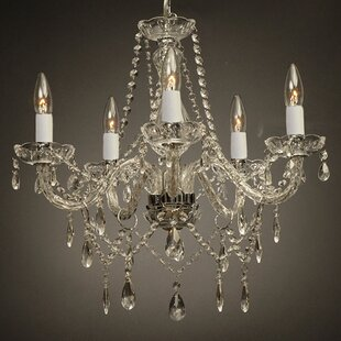 House of Hampton Holton 5-Light Silver Candle Style Chandelier