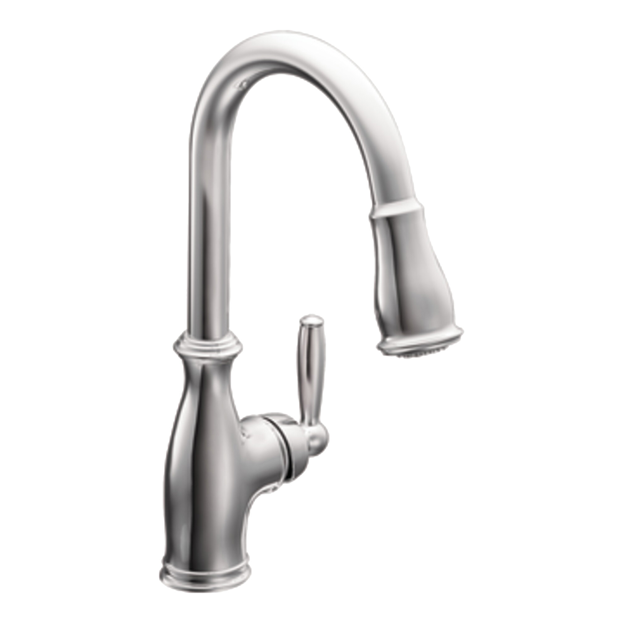 Moen Brantford Pull Down Touch Single Handle Kitchen Faucet with ...