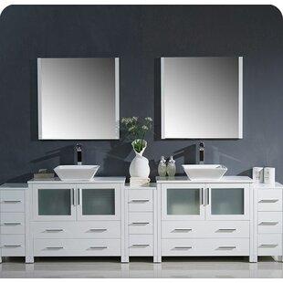 Torino 108 Double Bathroom Vanity Set with Mirror