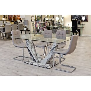 Eunice Dining Set With 6 Chairs By Ebern Designs