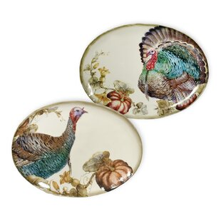 Watercolor Harvest Plate Set (Set of 2)  sc 1 st  Wayfair & Harvest Plates   Wayfair