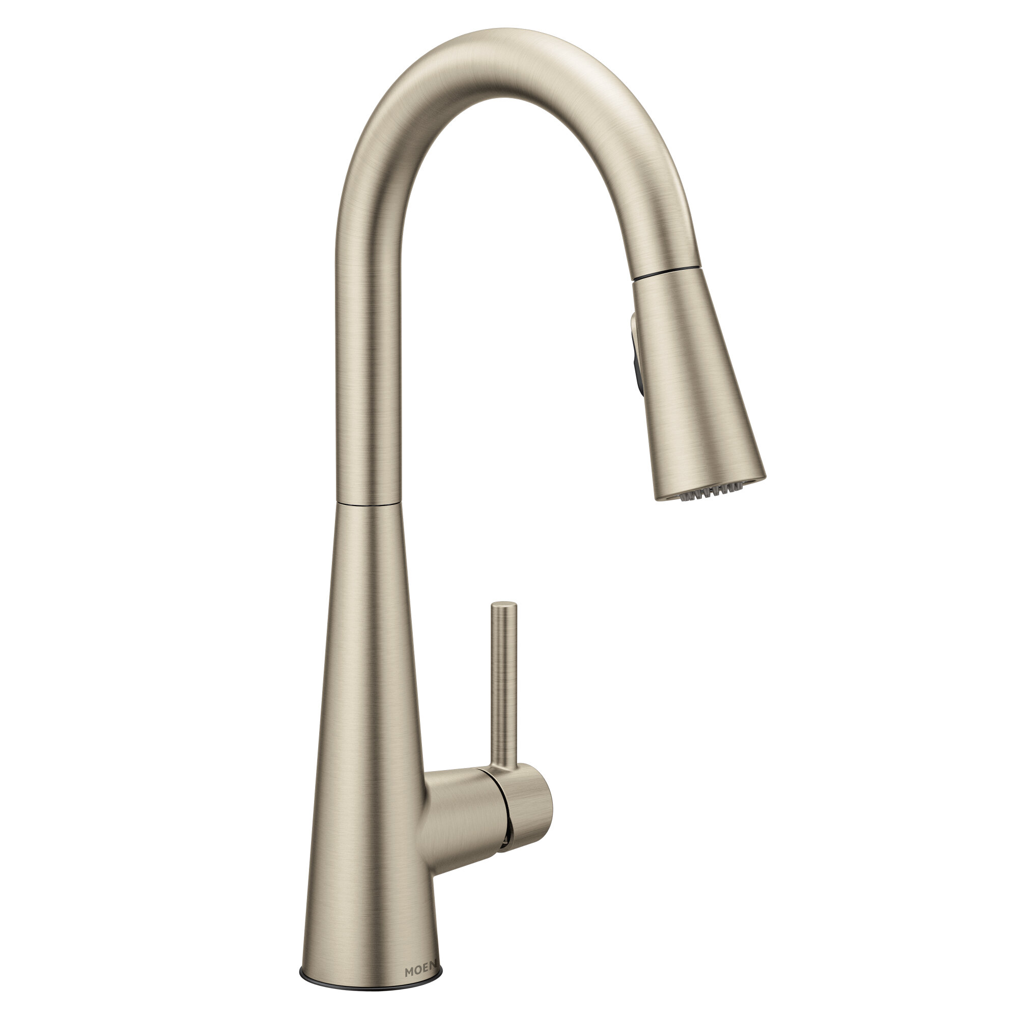 . Sleek Pull Down Single Handle Kitchen Faucet with Duralock   and Power  Clean  Technology