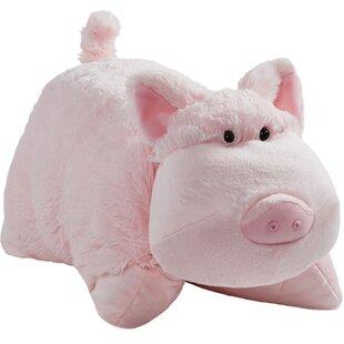 Wiggly Pig Throw Pillow