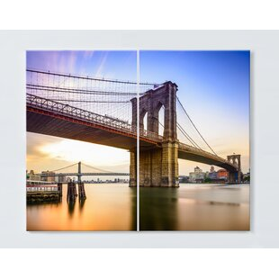 New York Magnetic Wall Mounted Cork Board By Ebern Designs