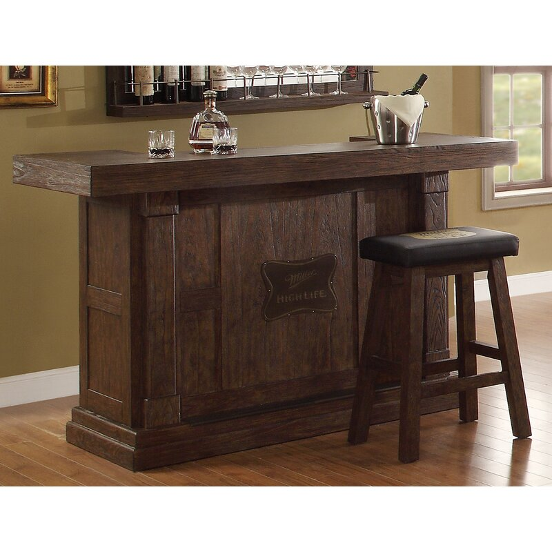 Eci Furniture Miller High Life Home Bar Wayfair