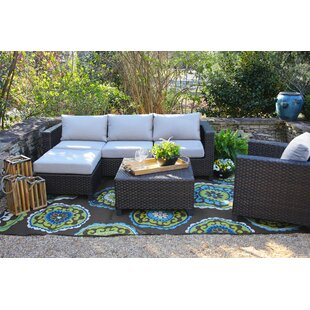 Owen Deep Seat Sunbrella Seating Group with Sunbrella Cushions by Brayden Studio