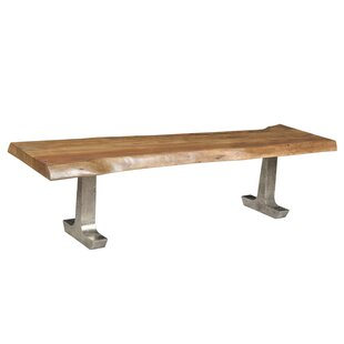 Rockwell Solid Wood Bench by Loon Peak