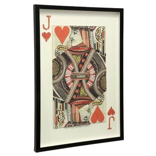 Jack of Hearts Framed Graphic Art By Brayden Studio