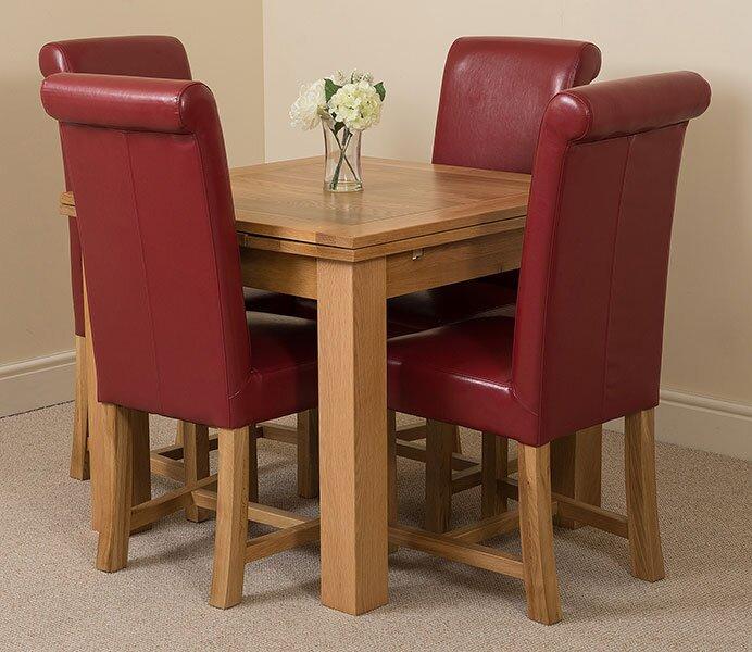 red barrel studio essgruppe upstream mit ausziehbarem tisch und 4 st hlen bewertungen. Black Bedroom Furniture Sets. Home Design Ideas