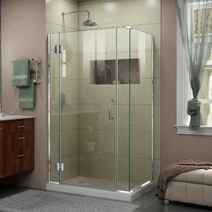 DreamLine Unidoor-X 40 1/2 in. W x 34 3/8 in. D x 72 in. H Frameless Hinged Shower Enclosure