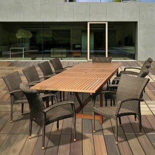 Rosecliff Heights Ashford 11 Piece Rectangular Dining Set