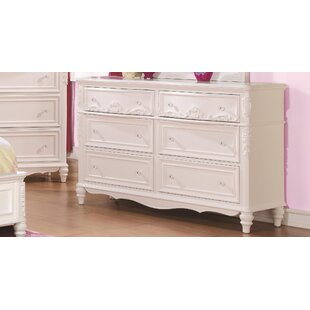 Aracely Traditional 6 Drawers Double Dresser