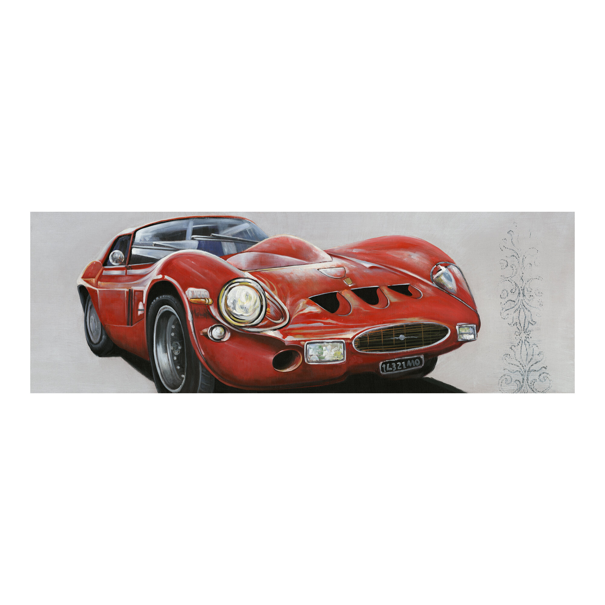 17 Stories Sportscar Painting Print On Canvas Wayfair