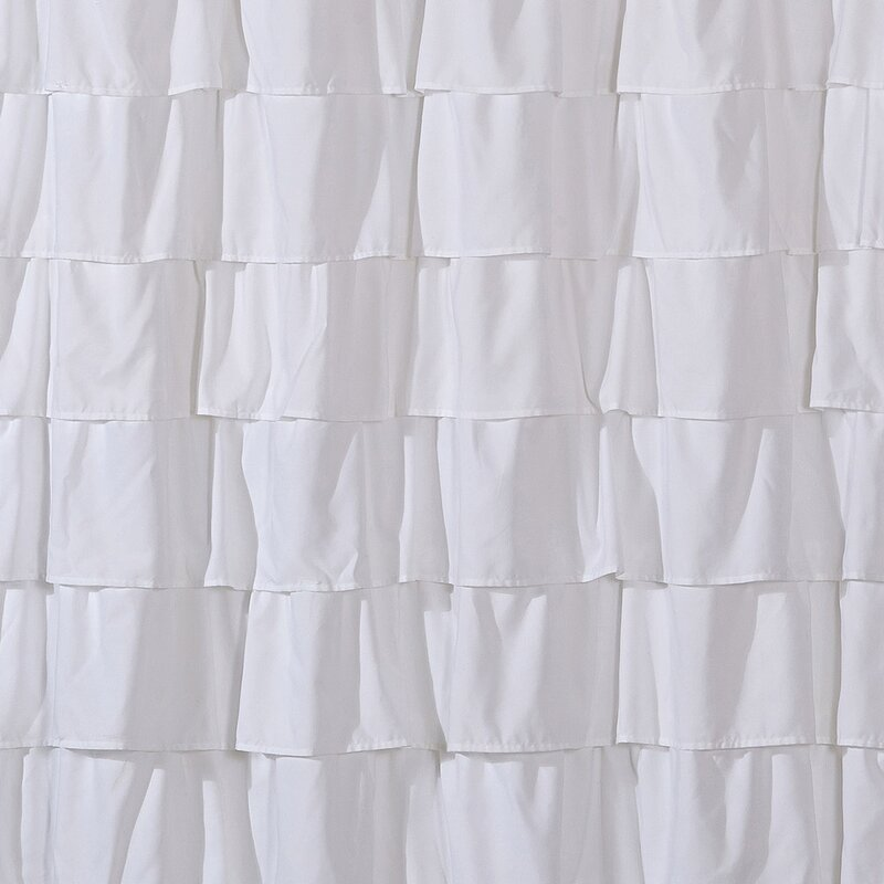House of Hampton Keeter Ruffle Shower Curtain & Reviews | Wayfair