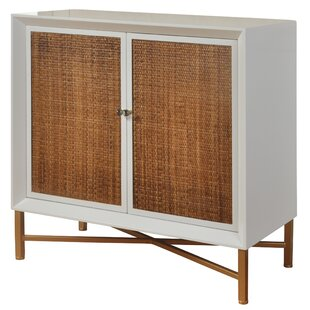 George Oliver Courson Woven 1 Door Accent Cabinet