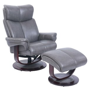 Shery Swivel Recliner with Ottoman
