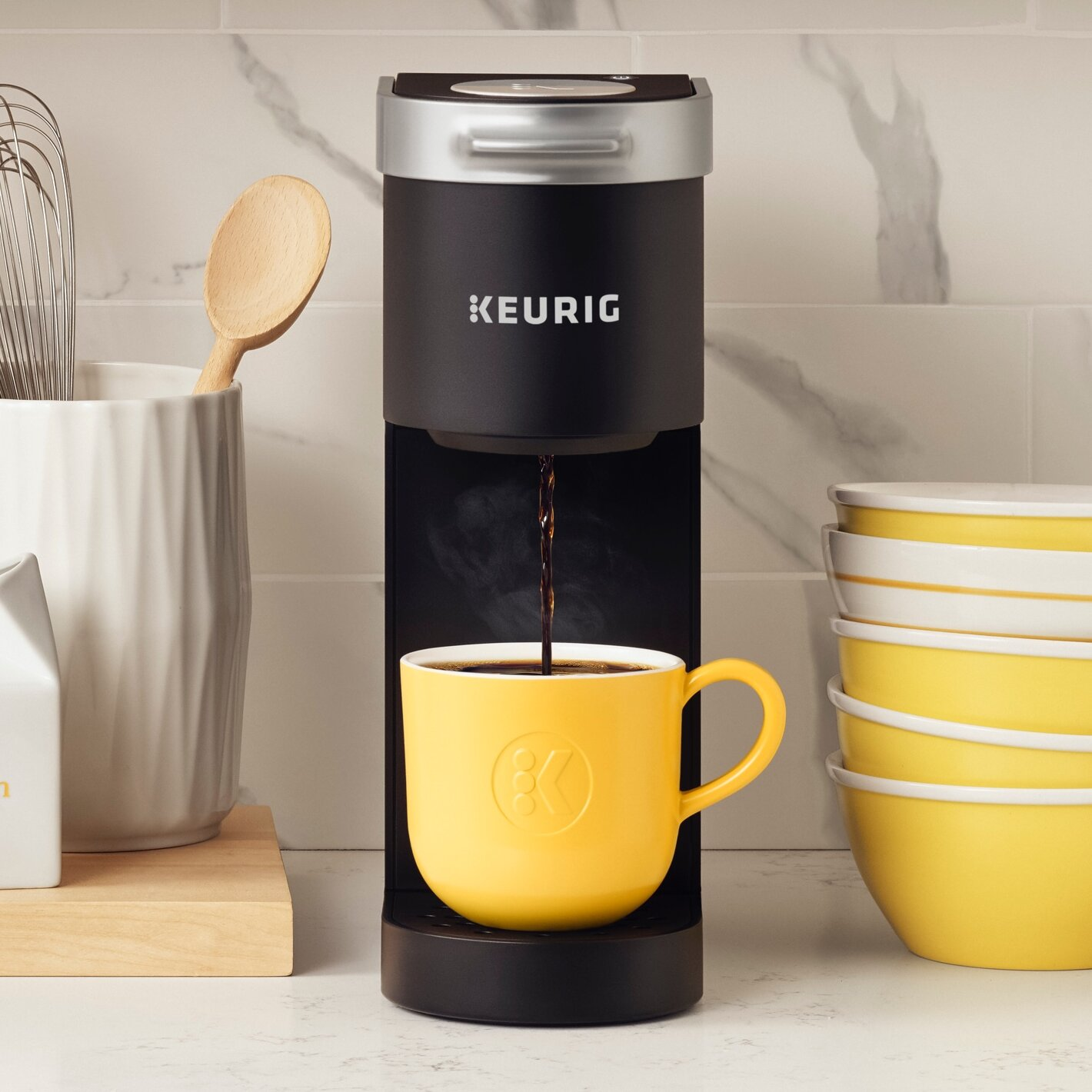 Small Coffee Maker Single Cup One Size Compact For Travel Portable Little Office