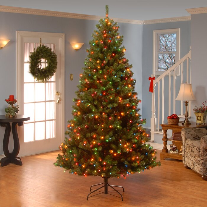 darby home co 7 5 green spruce artificial christmas tree with 550