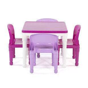 Playtime Kids 5 Piece Activity Table and Chair Set by Tot Tutors
