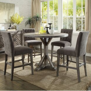 Balfor Round 5 Piece Counter Height Dining Set by One Allium Way