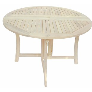Zen Garden 43 inch Foldable Deck Table, Oak White Wood Finish