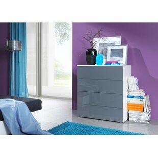 Top Groover 4 Drawer Standard Dresser Chest by Orren Ellis
