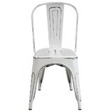 Marte Metal Slat Back Stacking Side Chair (Set of 4) by Williston Forge
