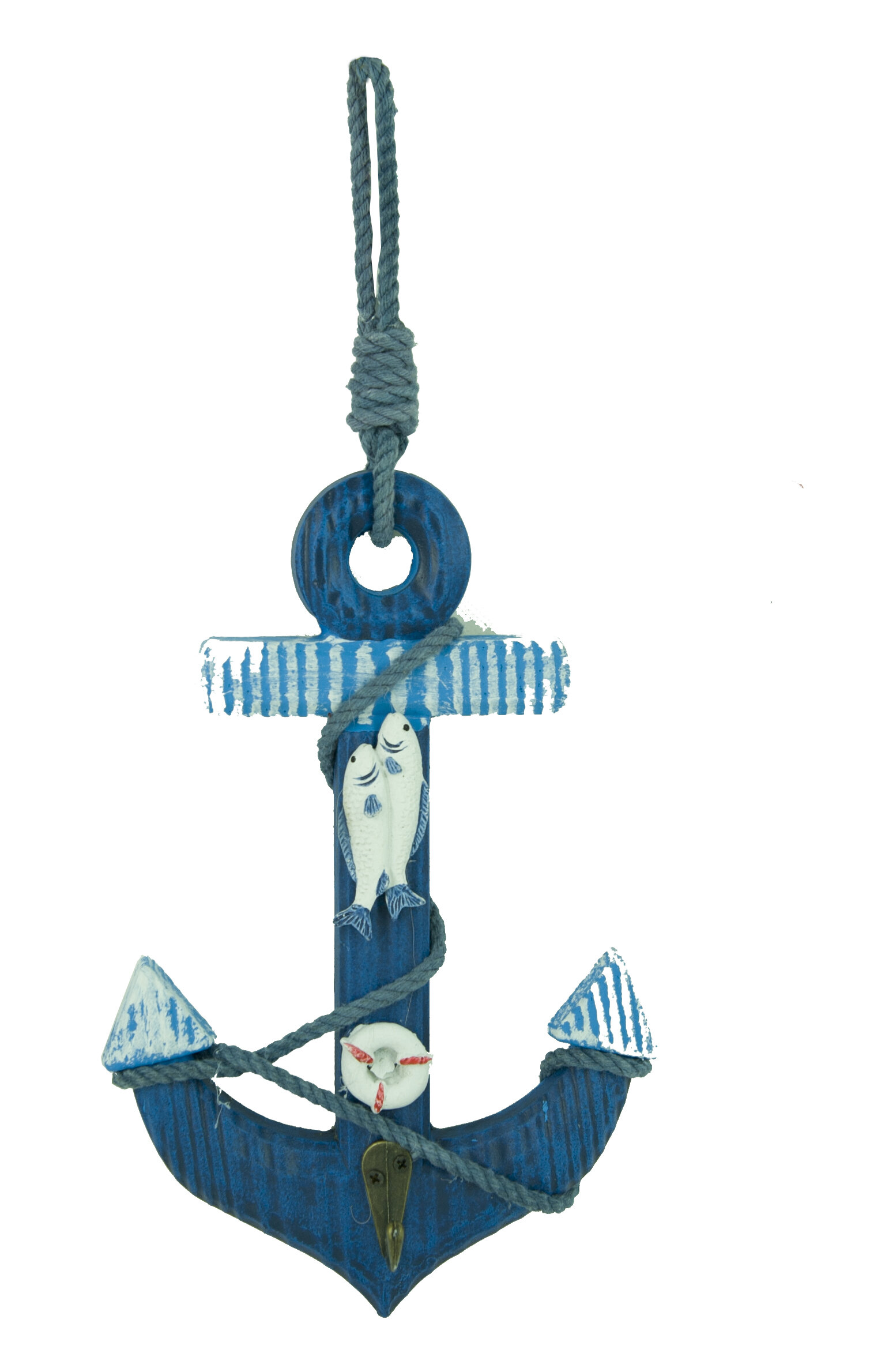 Attractiondesignhome Wooden Nautical Anchor Hanging Hook Wall Decor Reviews Wayfair