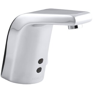Kohler Sculpted Single-Hole Touchless Hybrid Energy Cell-Powered Commercial Bathroom Sink Faucet with Insight Technology, Temperature Mixer and 5-3/4