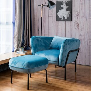Cunegunda Fabric Armchair with Ottoman by Latitude Run