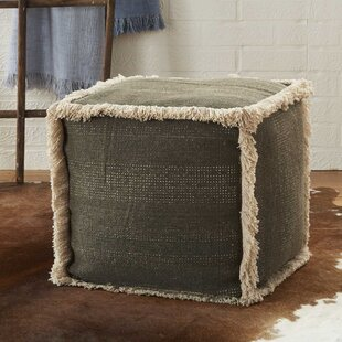 Mika Solid Pouf by Bungalo..