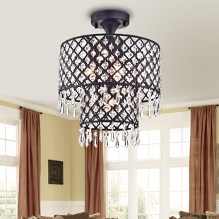 Warehouse of Tiffany Anika 4-Light Semi Flush Mount