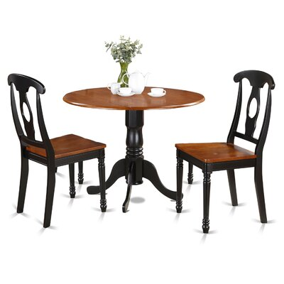 1acccffcd5f5e August Grove Spruill 3 Piece Drop Leaf Solid Wood Dining Set ...