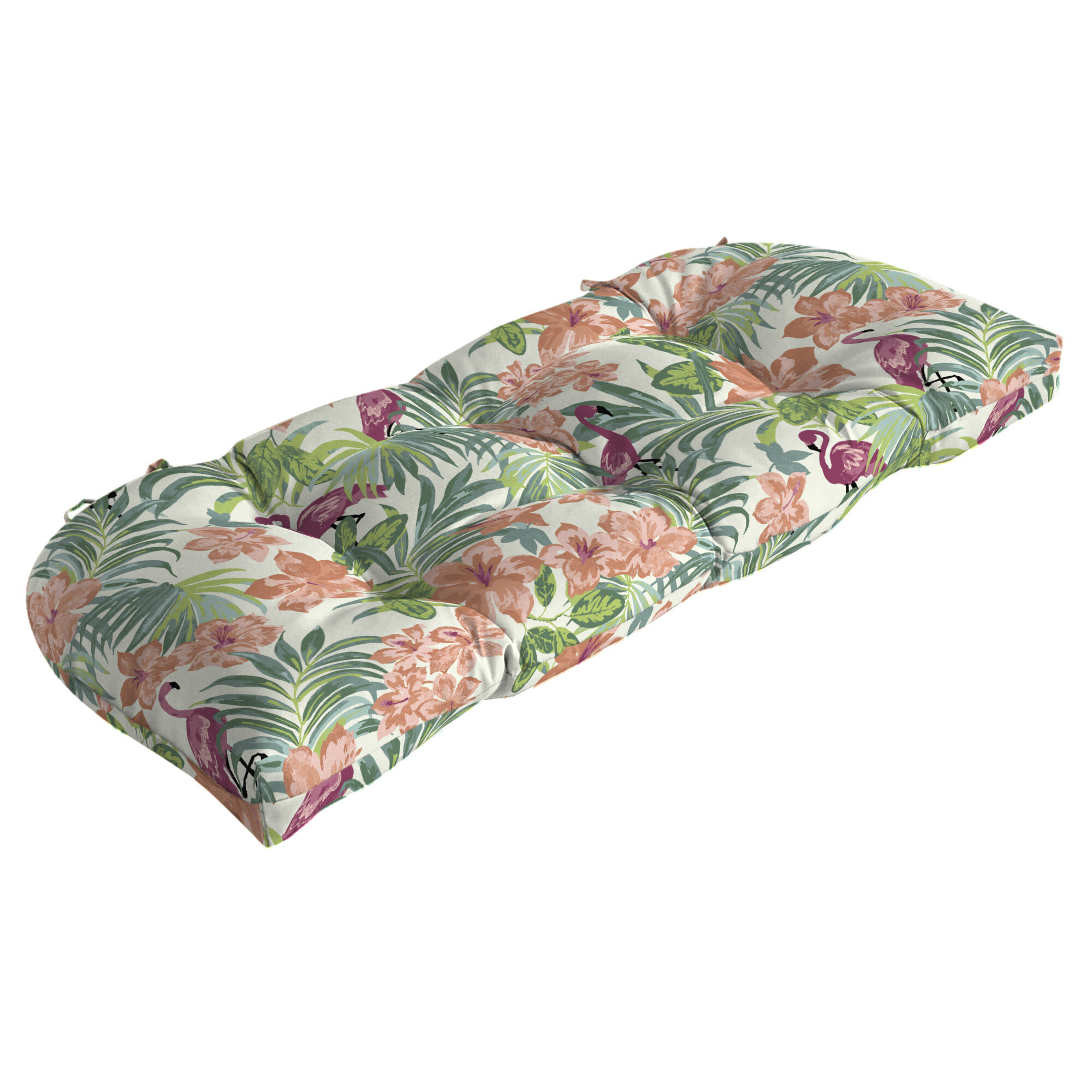 Wondrous Flamingo Tropical Outdoor Bench Cushion Machost Co Dining Chair Design Ideas Machostcouk