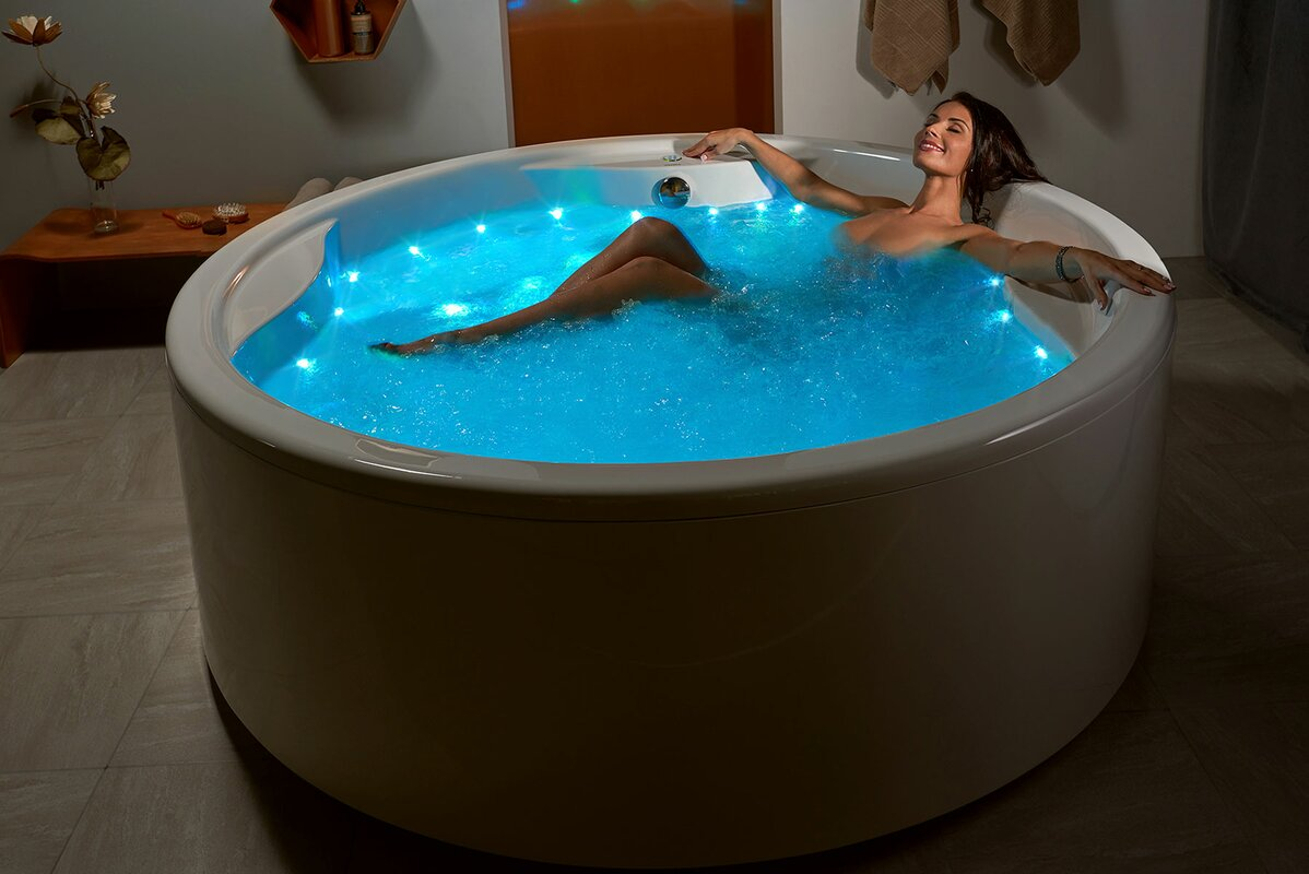 "Aquatica Allegra 74.75"" x 74.75"" Freestanding Whirlpool Bathtub ..."