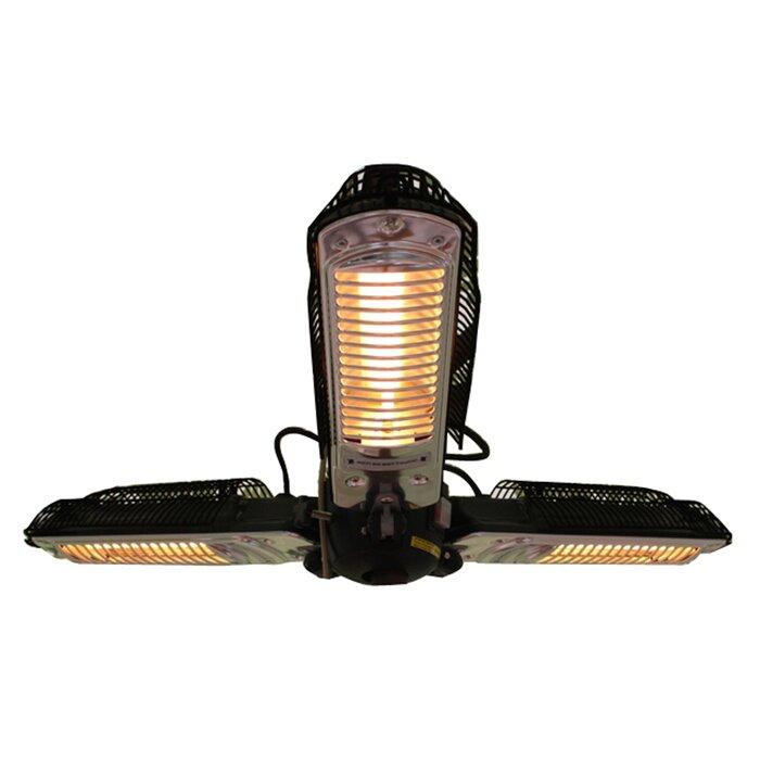 hanging patio heater. Umbrella 1500 Watt Electric Hanging Patio Heater